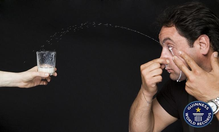 Worlds farthest milk squirting distance: Ilker Yilmaz