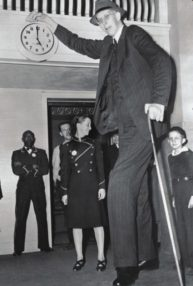 The tallest person in recorded history: Robert Pershing Wadlow