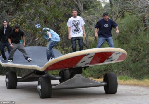 Worlds largest skateboard