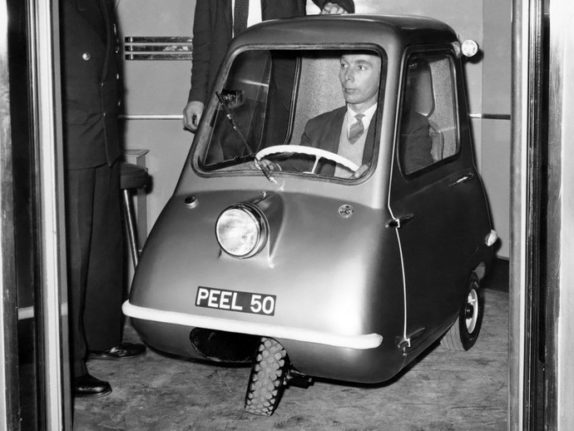 Worlds smallest production automobile: Peel P50