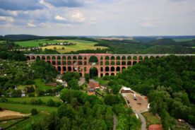The largest brick built bridge in the world: Goltzsch Viaduct