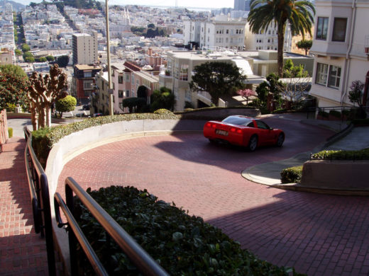 The most crooked street in the world: Lombard Street