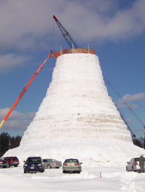 The tallest snowman in the world: Olympia SnowWoman