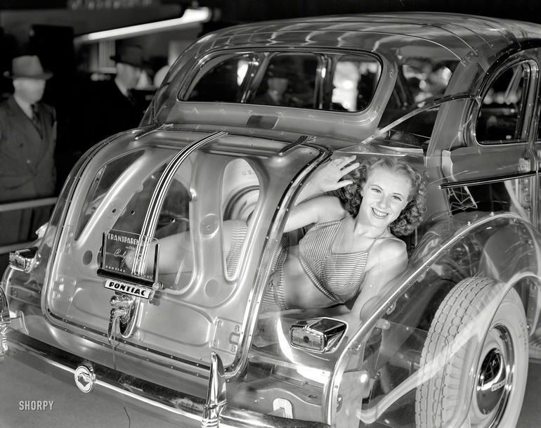 "World's most transparent car: 1939 Pontiac Plexiglas Deluxe Six ""Ghost Car"""