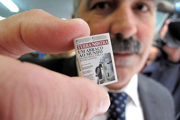 Smallest Newspaper in the World: Terra Nostra